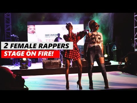 Female Rappers Eva Alordiah and Pryse Perfoming QUEEN KONG