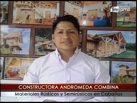 Constructora Andrómeda combina materiales rústicos y semirústicos en cabañas