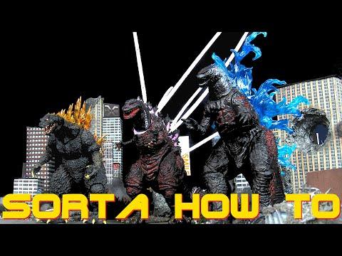 Custom Godzilla Aftershock NECA Shin Godzilla & Spitfire SH MonsterArts Godzilla 2000 - Sorta How To