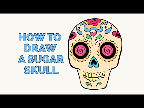 How to Draw a Sugar Skull - Easy Step-by-Step Drawing Tutorial