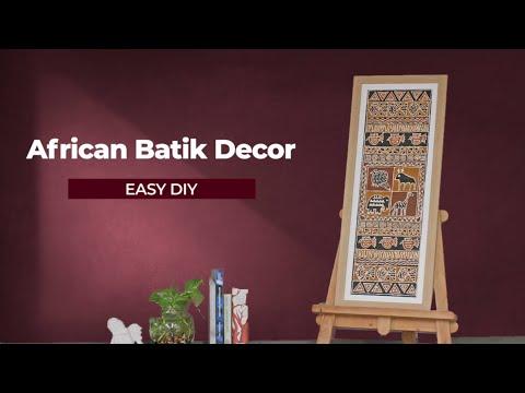 DIY African Batik Art