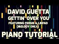 Piano Tutorial | David Guetta Featuring Fergie & LMFAO | Gettin' Over You (Melody Only)
