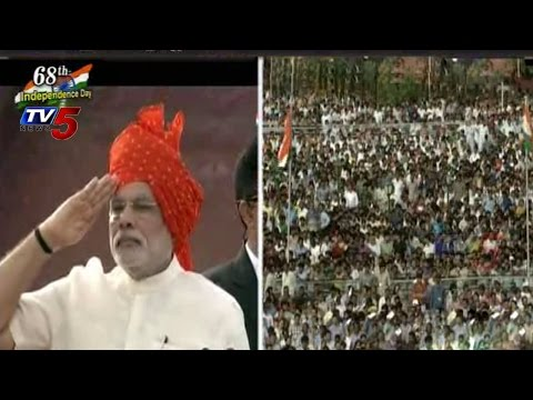 68th Independence Day | PM Modi Hoists National Flag @ Red Fort : TV5 News