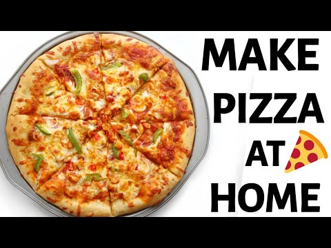 HOW TO MAKE PIZZA AT HOME | CHICKEN SUYA PIZZA !