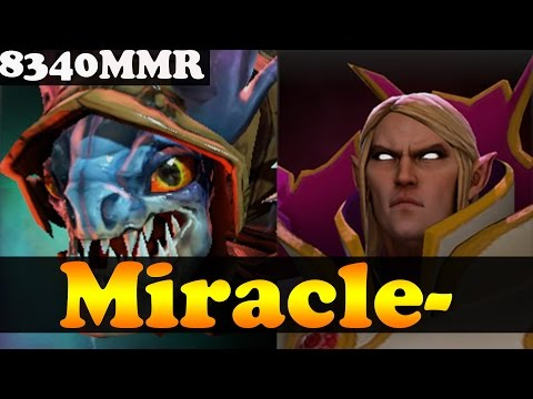 Dota 2 - Miracle- 8340MMR Plays Slark And Invoker - Ranked Match Gameplay