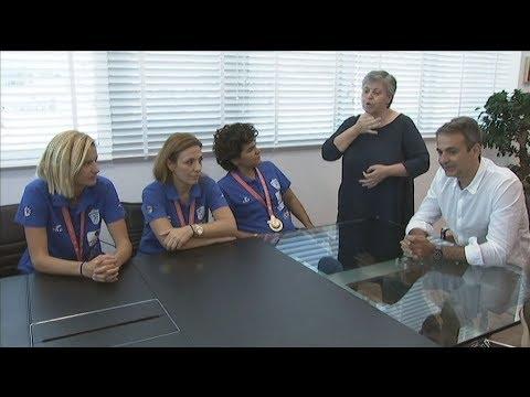 Συνάντηση Κυριάκου Μητσοτάκη με την Εθνική Ολυμπιακή ομάδα Κωφών