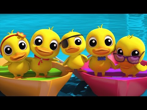 Five Little Ducklings | Nursery Rhymes Farmees | Kids Songs | 3d Rhymes By Farmees
