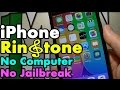 Make and Customize iPhone Ringtone from Music Without Computer or iTunes No JailBreak
