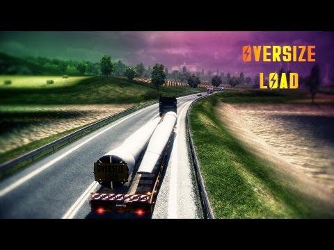 Euro Truck Simulator 2 - OVERSIZE LOAD! - Scania R1000 ( Full HD )