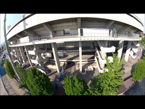 stadio bentegodi di verona, visto dall'alto con un drone