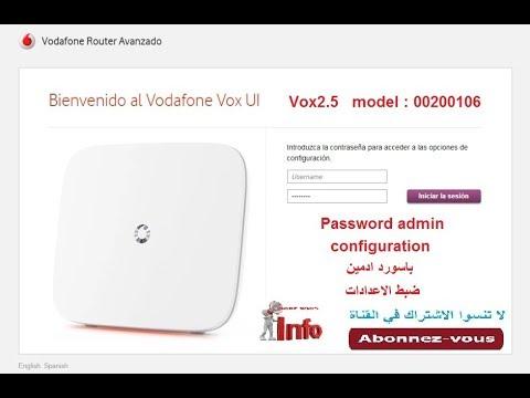configuration routeur vodafone router avanzado vox 2.5 ضبط و برمجة اعدادات روتور