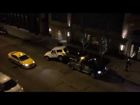 VIRAL VIDEO: Tow Truck ESCAPE River North Chicago