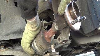2. Front wheel bearing replacement - Removal and refitting step by step