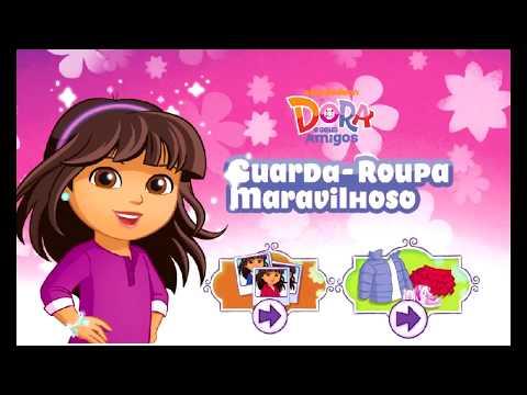Jogos de meninas - Ajudando a Dora a Escolher a Roupa para a Festa - Jogos Para Meninas -