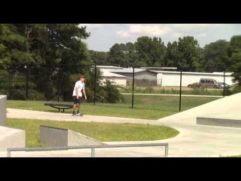 Keith skateboarding at Chesapeake skate park in Chesapeake Virginia