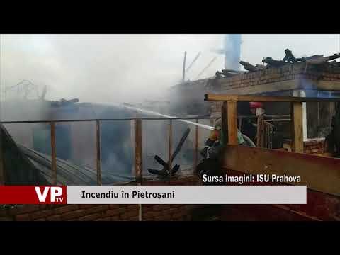 Incendiu în Pietroșani