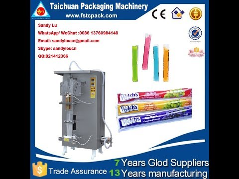 Freeze Pops Packaging Machine , Ice Pop Packing Machine
