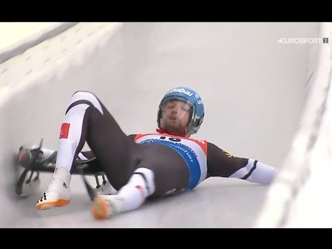 Luge crash...crikey!