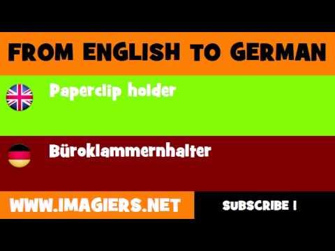 DEUTSCH   ENGLISCH  = Büroklammernhalter