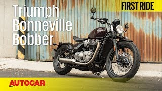 Triumph India's newest addition to its retro-modern range, the Bonneville Bobber has a 1,200cc motor from the Bonneville T120. Watch the Autocar first ride to know more.SUBSCRIBE to Autocar India for hottest automotive news and the most comprehensive reviews ► http://bit.ly/AutocarIndAutocar India is your one stop source for test drive reviews & comparison test of every new car released in India. We also offer a great mix of other automotive content including podcasts, motor show reports, travelogues and other special features.Click this link for latest car reviews ►http://bit.ly/ACI-NewCarReviewsClick this link for comparison tests of latest cars & bikes ►http://bit.ly/ACI-ComparisonClick this link for latest bike reviews ►http://bit.ly/ACI-BikeReviewsClick this link for Autocar India exclusive features ►http://bit.ly/ACI-FeaturesVisit http://www.autocarindia.com for the latest news & happenings from the auto world.Facebook: http://www.facebook.com/autocarindiamagTwitter: http://www.twitter.com/autocarindiamagG+: https://plus.google.com/+autocarindia1