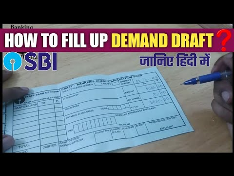 Video How to fill Demand Draft form( In HINDI) download in MP3, 3GP, MP4, WEBM, AVI, FLV January 2017