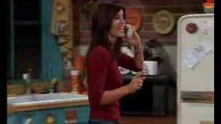 Monica tells Chandler that she has met the funniest guy ever!Hilarious!
