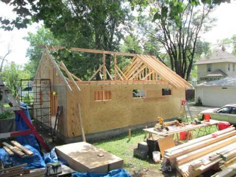 One man garage build