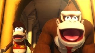 Donkey Kong Country Returns Co-op Walkthrough - World 9 - Gold...