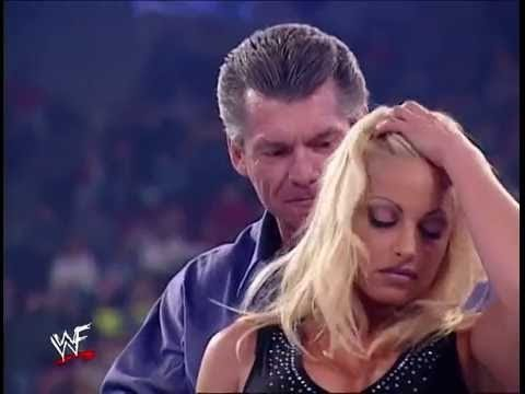 Trish Stratus saved by the Rock from Vine McMahon