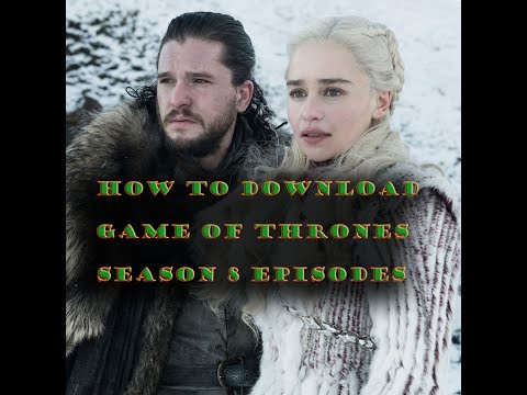 How to download Game of Thrones season 8, episode 1  with | English subtitle |