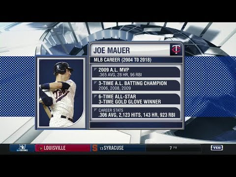Video: Joe Mauer retires after 15 seasons with the Twins
