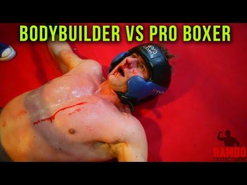 Kehonrakentaja haastaa nyrkkeilijän kehään…