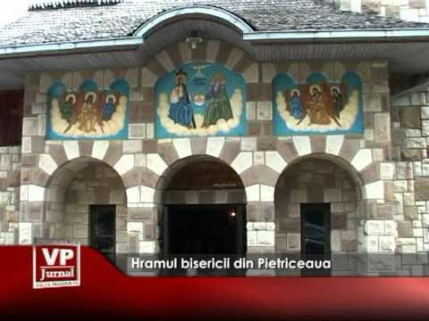 Hramul bisericii din Pietriceaua