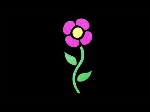 Vitrail de fleur en papier de soie