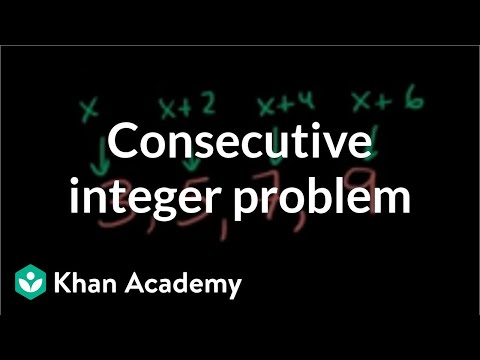 Sums Of Consecutive Integers Video Khan Academy