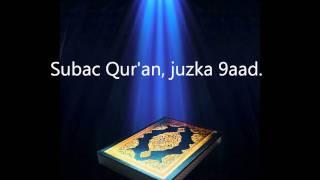 Subac Quran Oo Kaamil Ah, Juzka 9aad.