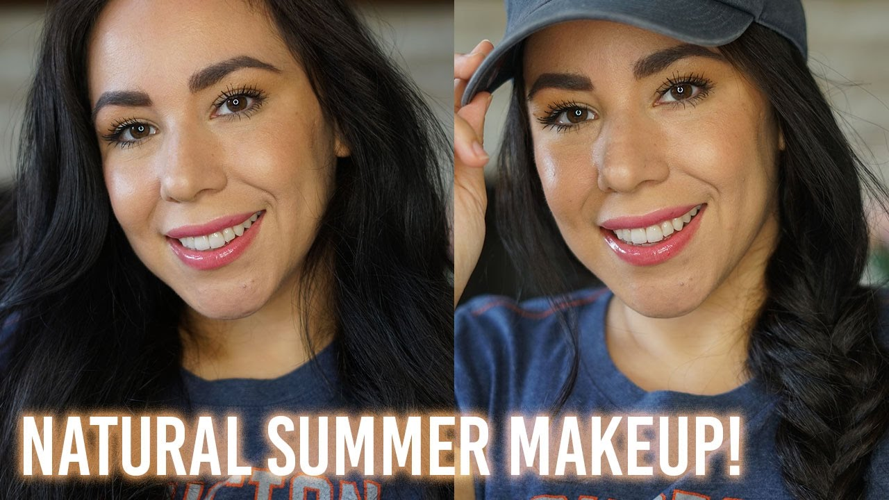 Baseball Game Day Makeup & Hair! | Natural Summer Makeup