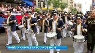 Desfile cívico marca comemorações aos 90 anos de Marília