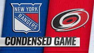 02/19/19 Condensed Game: Rangers @ Hurricanes by NHL
