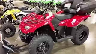 9. KING QUAD 400 2017 WITH WINCH&PLOW WALK AROUND ROMNEY CYCLE CENTER