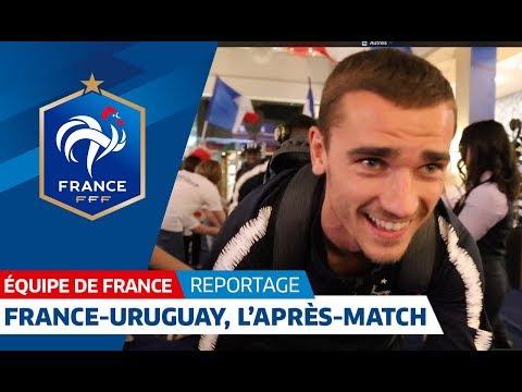 Les bleus - l'après match France Uruguay 2 - 0  ALLEZ LES BLEUS !!