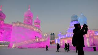 The Harbin 哈尔滨 Snow and Ice Festival opens January 3rd