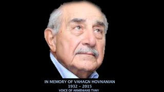 In Memory of Armenian Philanthropist Vahakn Hovnanian