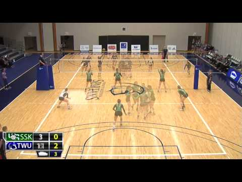 2015-01-31 TWU Women's Volleyball Highlights vs Saskatchewan