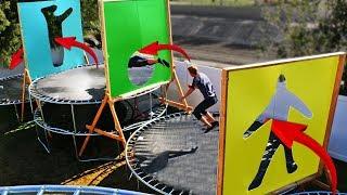 Video Parkour through Impossible Shapes in our Backyard Trampoline Park!! MP3, 3GP, MP4, WEBM, AVI, FLV Juli 2019