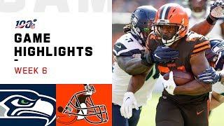 Seahawks vs. Browns Week 6 Highlights | NFL 2019