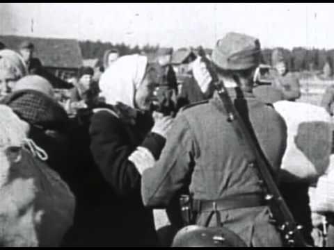 СС Каратели РОА РОНА угоняют русских женщин в Германию Nazi SS видео