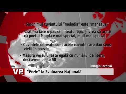 """""""Perle"""" la Evaluarea Națională"""