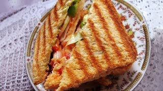 How To Make Daily Grilled Sandwich | Grilled Sandwich By Sanjeev Kapoor | ग्रिल्ड सैंडविच