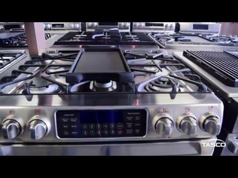 GE Café 30-Inch Freestanding Double Oven Gas Range (CCGS990SETSS) - Tasco Product Showcase